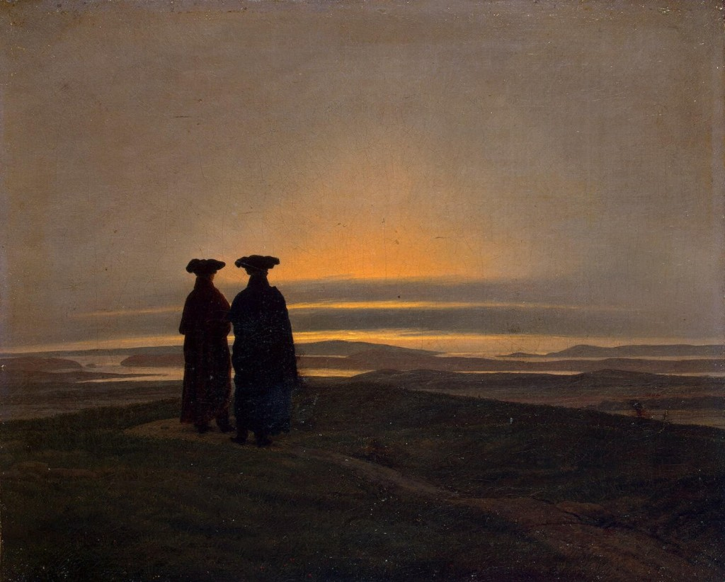 Sunset, Caspar David Friedrich
